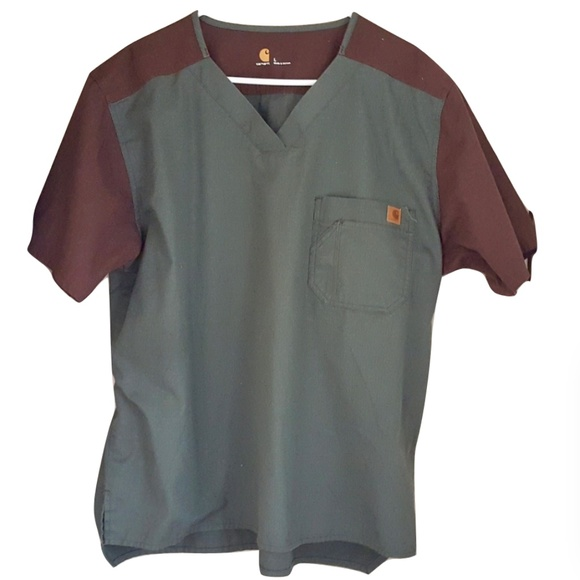 Carhartt Other - Carhartt Mens Ripstop Scrub Top Size L V-Neck S/S